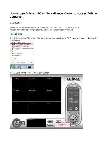 Edimax IC-3110W Network Camera Driver Download (2019)