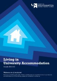 Living in Accommodation Guide 2011/12 - University of ...