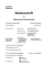 Protokoll vom 4.12.2006 - .PDF - Natters