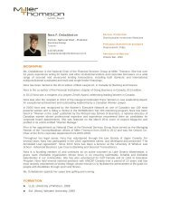 Nora F. Osbaldeston BIOGRAPHIE FORMATION - Miller Thomson