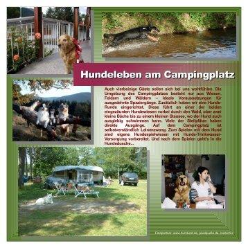 Urlaub mit Hund - Camping Rosental Roz
