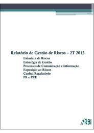 2º Trimestre de 2012 - Banco Arbi