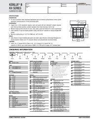 KEMLUX® III KH SERIES - Hubbell Industrial Lighting