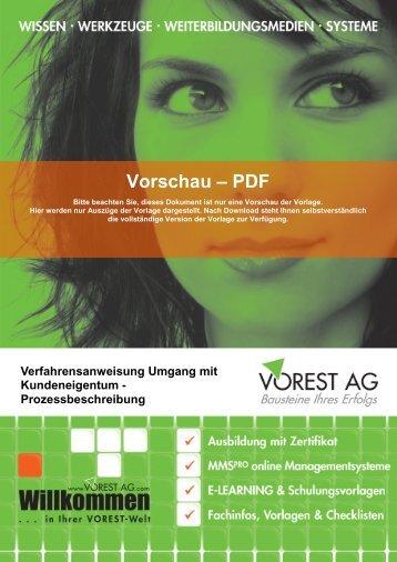 Umgang mit Kundeneigentum - Vorest AG