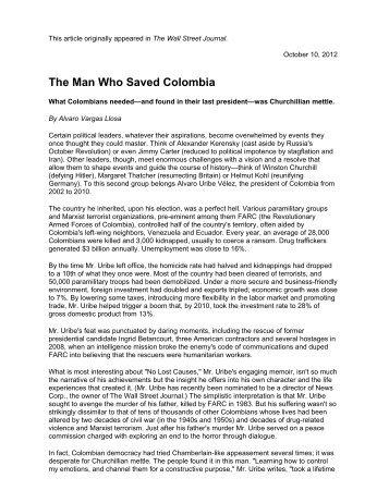 The Man Who Saved Colombia - Washington Speakers Bureau