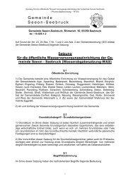 Satzung für die öffentliche ... - Seeon - Seebruck