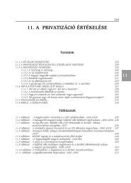 11. a privatizáció értékelése - Magyar Tudományos Akadémia ...