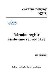 Národní registr asistované reprodukce (verze 062 ... - ÚZIS ČR