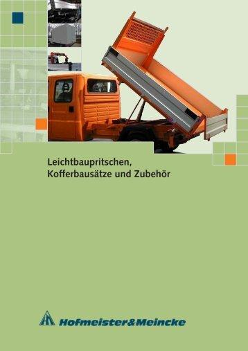 Leichtbaupritschen, Kofferbausätze und Zubehör - HOF-MEI-KO