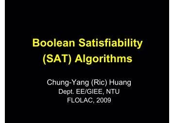 Boolean Satisfiability (SAT) Algorithms
