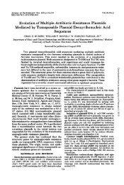 Evolution of Multiple-Antibiotic-Resistance Plasmids Mediated by ...