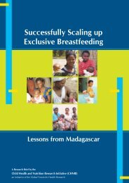 Successfully Scaling Up Exclusive Breastfeeding: Lessons ... - Chnri