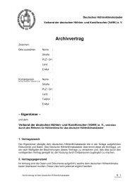 Archivvertrag - VdHK
