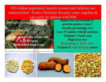 Biotechnology and Enriched Nutrition by Prof. Swapan ... - ILSI India