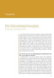 Dieter Henrich: Die Sekundenphilosophie (PDF)