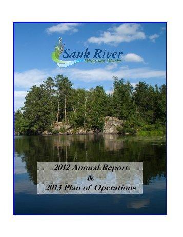 2012 Annual Report & 2013 Plan of Operations - Sauk River ...