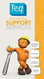 Download our Technical Support Services Brochure (PDF) here. - Teq