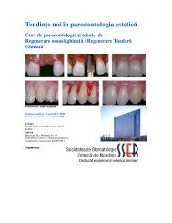 Tendin e noi în parodontologia estetic ă - Terra Dent