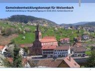 Vortrag der STEG zur Auftaktveranstaltung in ... - weisenbach.de