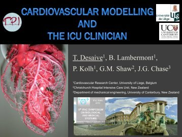 Cardiovascular Modelling and the Intensive Care Unit Clinician