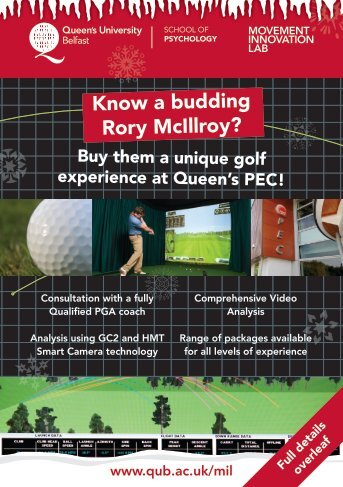 Golf Simulator Information - Queen's Sport