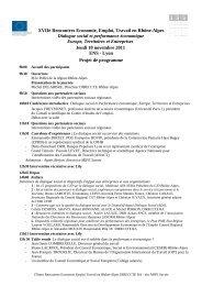 Projet de programme - MIFE France