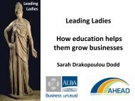 Leading Ladies How education helps them grow businesses