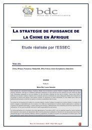 La stratégie de puissance de la Chine en Afrique - Base de ...