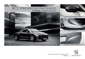 rcz premium package - Peugeot