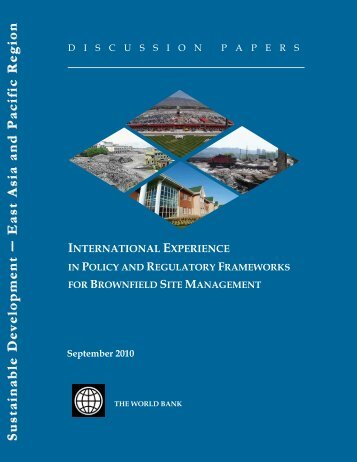 International Experience in Policy and Regulatory Frameworks for ...