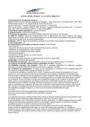 AVIS D'APPEL PUBLIC A LA CONCURRENCE - RFF