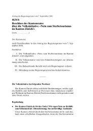 Nein zum Sterbetourismus im Kanton Zürich! - Wahlen ...