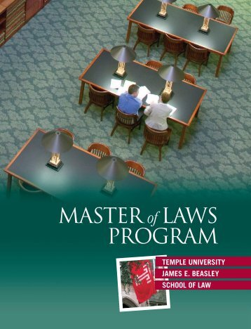 MASTER of LAWS PROGRAM - Temple University Beasley School ...