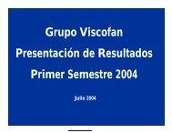 Presentación de resultados T2 - Viscofan