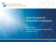 Solar Systems for Residential Installations - Solar Decathlon