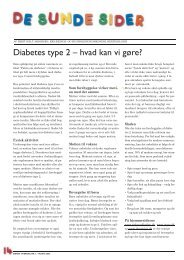 Diabetes type 2 – hvad kan vi gøre?