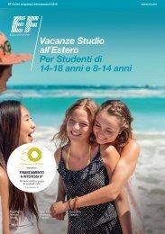 Vacanze Studio all'Estero Per Studenti di 14-18 anni e 8-14 anni