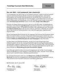 Jahresbericht 2003 - Freiwillige Feuerwehr Bad Wörishofen