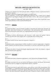 REGOLAMENTO DI ISTITUTO - G. Veronese