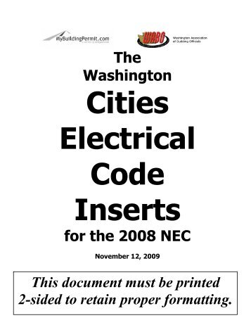 Code of Practice for Electrical Installations