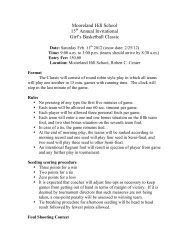 Mooreland Hill Basketball CISSIC 2012 - The Ethel Walker School