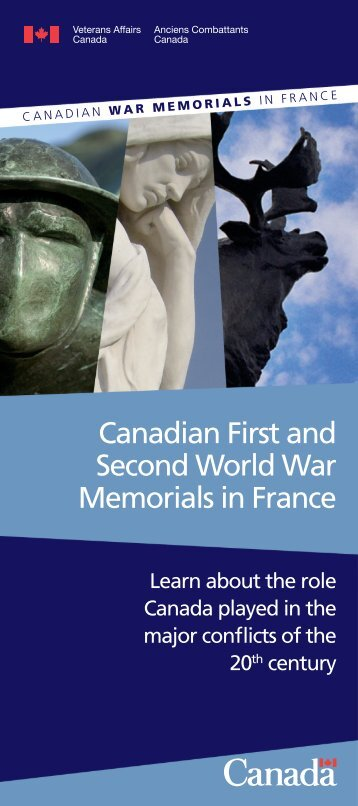 Canadian First and Second World War Memorials in France