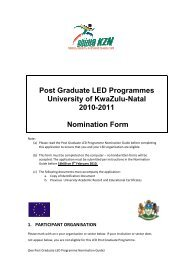 Post Graduate LED Programme Nomination Form - Department of ...