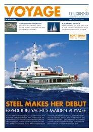 STEEL MAKES HER DEBUT - Pendennis Shipyard Ltd