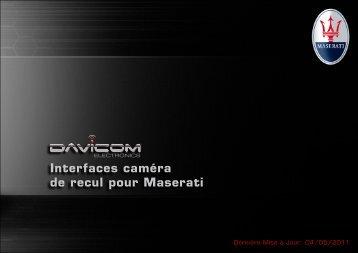 Interfaces caméra de recul pour Maserati - Davicom Electronics