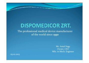 Dispomedicor company introduction short version 2013