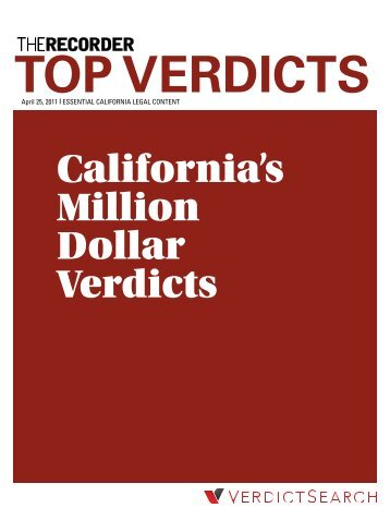 View PDF of The Recorder Article - Los Angeles Personal Injury ...