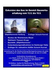 Exkursion des ibac im Bereich Bauwerks- erhaltung vom 13.5. bis ...