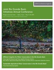 Conference Agenda - 2013 Rio Grande Basin Initiative Meeting