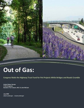 Out of Gas: - Senator Tom Coburn - U.S. Senate